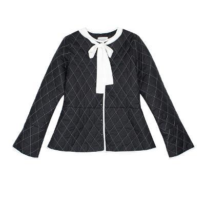 tie quilting jumper gray